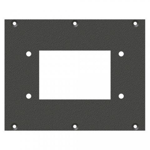 front panel Square-MP06-cutout, 2 HE, 3 BE for SYS-series, Galvanized sheet steel, colour: anthracite, RAL 7016