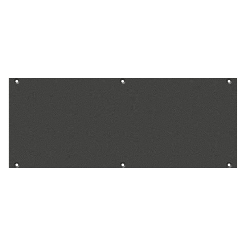 front panel blank panel, 2 HE, 6 BE for SYS-series, colour: anthracite, RAL 7016
