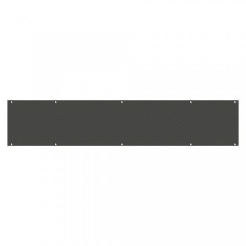 Frontblech Leerblech, 2 HE, 12 BE für SYSBOXX, Farbe: anthrazit, RAL 7016