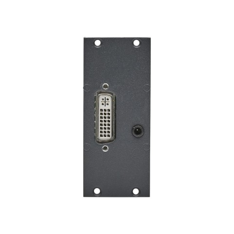 Connector Module DVI 24+5 + 3.5 mm stereo mini jack fem. -> Plug-in / screw terminal, 2 HE, 1 BE for SYS-series, colour: anthracite, RAL 7016