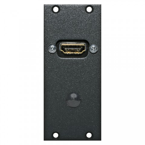 Steckverbinder-Modul HDMI female Patch, 2 HE, 1 BE für SYS-Gehäuseserien, Farbe: anthrazit, RAL 7016   SYCFB21-HD-P