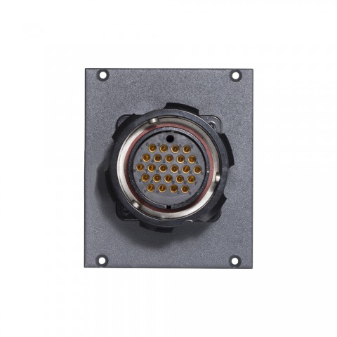 Connector Module LK 24-pole female -> 2 push-on blade con. 14-pole, lockable, 2 HE, 2 BE for SYS-series, colour: anthracite, RAL 7016