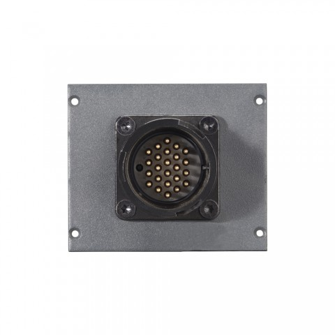 Connector Module LK 24-pole male -> 2 push-on blade con. 14-pole, lockable, 2 HE, 2 BE for SYS-series, colour: anthracite, RAL 7016