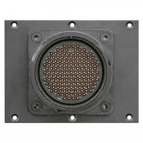 Connector Module LK 150-pole male -> 12 push-on connectors 14-pole, lockable, 2 HE, 3 BE for SYS-series, colour: anthracite, RAL 7016