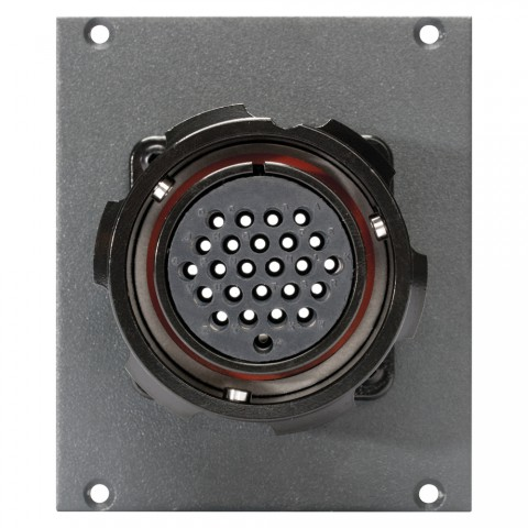 Side panel module LK 24-pole female -> 2 push-on blade con. 14-pole, lockable, 2 HE; depth: 80 mm for SYSBOXX, colour: anthracite, RAL 7016