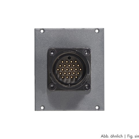 Side panel module LK 24-pole male -> 2 push-on blade con. 14-pole, lockable, 2 HE; depth: 80 mm for SYSBOXX, colour: anthracite, RAL 7016