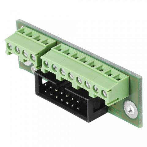 Breakout-Modul , 1 HE, 3 BE, 12 Aufzugklemmen, Flachstecker 14-pol-, für SYS-Gehäuseserien