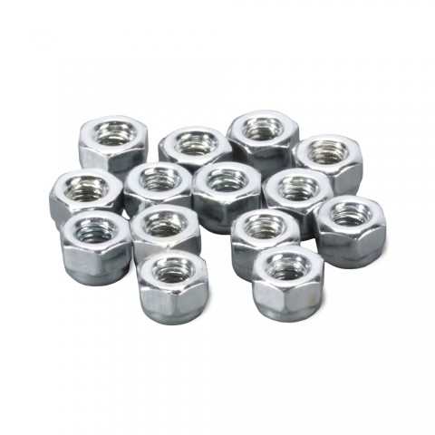 Locking nuts, Locking nuts self-locking, PU: 25 pcs. for D-Series, nickel plated