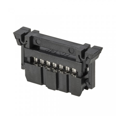 Row connectors, 14pole, lockable for Ribbon cable bulkware 14 x AWG28, grey