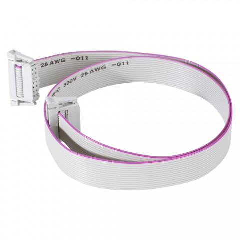 Ribbon cable, 2 x 14-pole blade terminal socket with lock for SYS-series