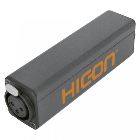 HICON Stereo balancing adapter, XLR female 3-pole <-> XLR male 5-pole