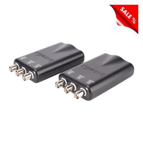 INTELIX Analog Video (+Audio) Baluns IX-AVO-V3HD-PAC-F, Video (+Audio) Transmitter / Receiver, IN: 3 x BNC | OUT: RJ45