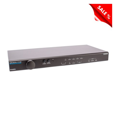 INTELIX HDMI Scaler, HDMI Scaler, IN: 2 x FBAS/S-Video/2 x YUV Komponente/VGA/DVI/4 x HDMI | OUT: 2 x HDMI