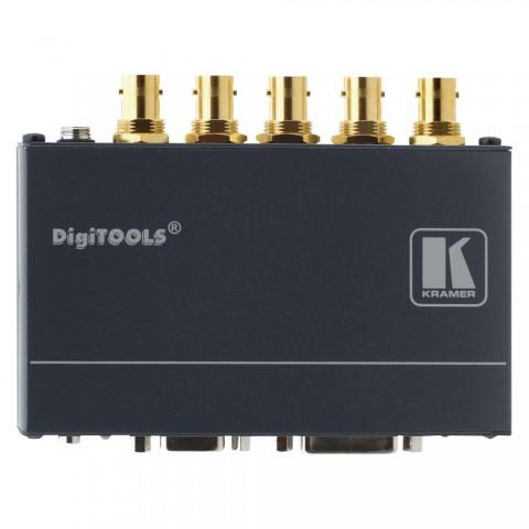 KRAMER , DVI Koax Receiver, IN: 5xBNC | OUT: DVI-D, B x H x T: 120 mm x 24 mm x 70 mm