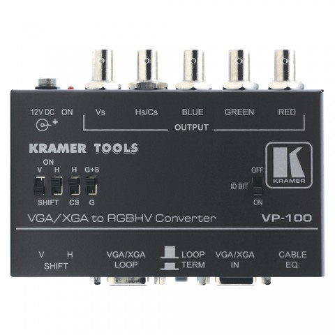 KRAMER , Standard PC-Interface, IN: HD-15 | OUT: 5xBNC + HD-15 (Loop)