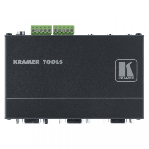 KRAMER , Splitter, IN: HD-15/Klinke 3,5 mm | OUT: 2xHD-15/2xKlinke 3,5 mm/2x Audioanschluss über Schraubklemmen