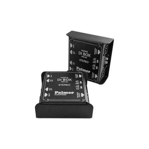 Palmer DI-box passive stereo, IN: jack 6,3 mm unbalanced | OUT: XLR 3-pol