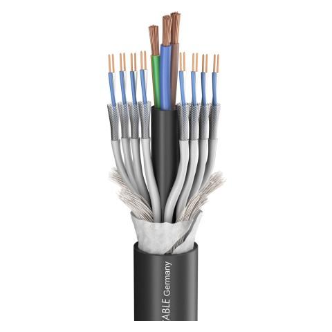 SC-Monolith 8 HV; power: 3 x 2,50 mm²; DMX: 2 x 0,14 mm²; PVC Ø 17,40 mm; black