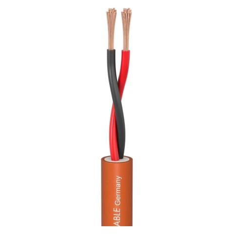 Lautsprecherkabel Meridian Install SP215; 2 x 1,50 mm²; FRNC, Silikon Ø 9,00 mm; orange