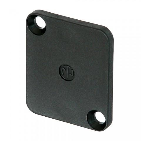 NEUTRIK Abdeckplatte für D-Form-Frontplattenausschnitte, schwarz