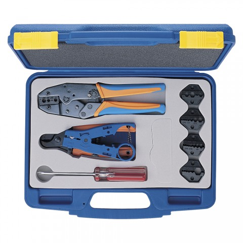 HICON Crimping pliers tool kit w. case for BNC crimping connectors