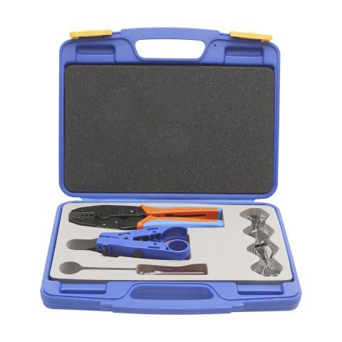 HICON Crimpzangen-Werkzeugset für BNC-Crimpverbinder