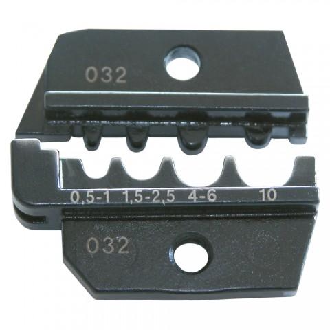 Crimpeinsatz für WCZ1200: Kabelschuhe, unisoliert, rot