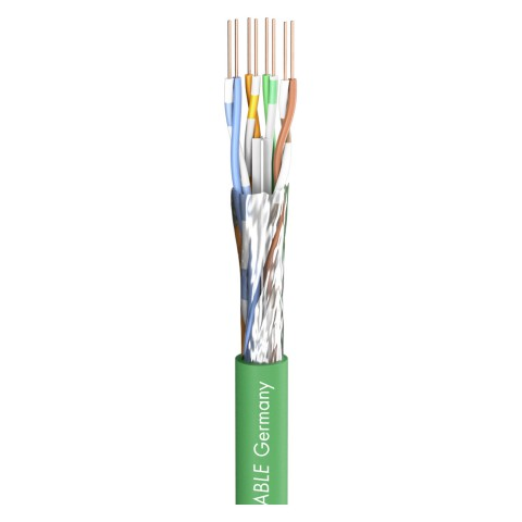 video cable SC-Mercator Extend U/UTP; 1 ; PVC / FRNC; green, Ø 6,60 mm