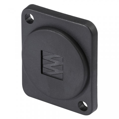 HICON D flange for rear panel flush mounting with SOMMER CABLE logo for SYS-series