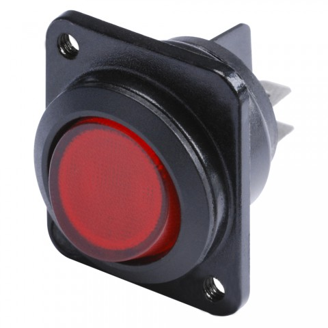 HICON Switch Glow lamp red 2-pole on / off for SYS-series