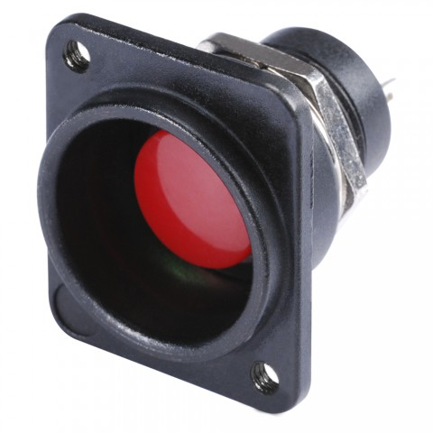 HICON Push-button red 1-pole, D-size for SYS-series