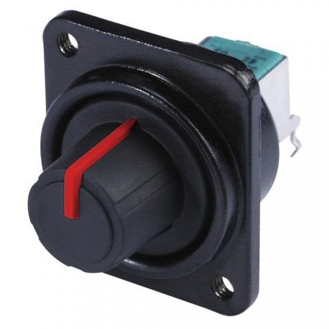 HICON Potentiometer, D-size, red for SYS-series