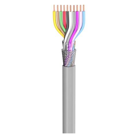 Steuerleitung SC-Control Flex; 10 x0,34 mm²; PVC, flammwidrig, Ø 7,70 mm; grau; Eca