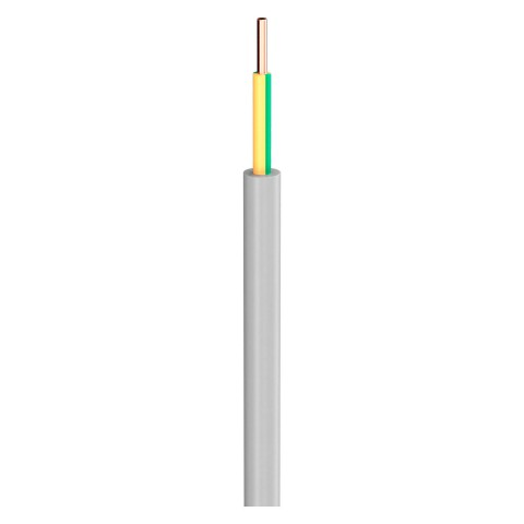 Lastleitung NYM-J; 1 x 2,50 mm²; PVC, flammwidrig, Ø 5,85 mm; grau; Eca