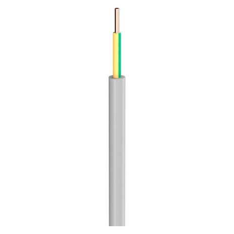 Lastleitung NYM-J; 1 x 10,00 mm²; PVC, flammwidrig, Ø 8,20 mm; grau; Eca