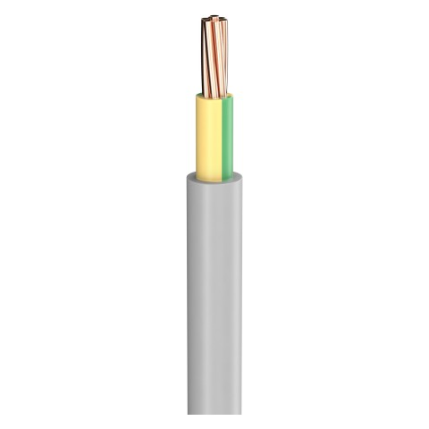Power Lead NYM-J; 1 x 16,00 mm²; PVC, flame-retardant, Ø 9,70 mm; grey; Eca
