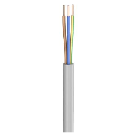 Lastleitung NYM-J; 3 x 1,50 mm²; PVC, flammwidrig, Ø 8,20 mm; grau; Eca