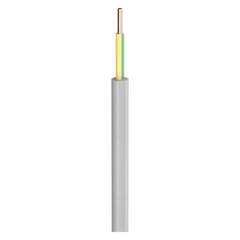 Lastleitung NYM-O; 1 x 1,50 mm²; PVC, flammwidrig, Ø 5,30 mm; grau