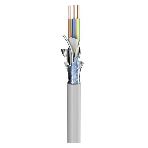 Power Lead (N)YM-(ST)-J; 3 x 1,50 mm²; PVC, flame-retardant, Ø 9,20 mm; grey