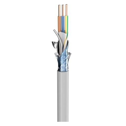Lastleitung (N)YM-(ST)-J; 3 x 4,00 mm²; PVC, flammwidrig, Ø 11,80 mm; grau
