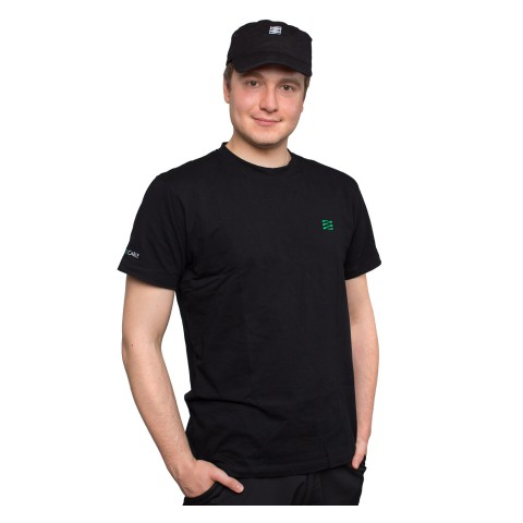 Sommer cable T-Shirt, schwarz