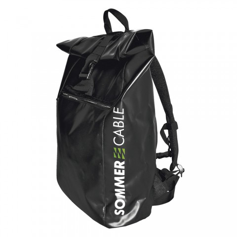 Sommer cable backpack, water-repellent, width: 340 mm, height: 640 mm, black