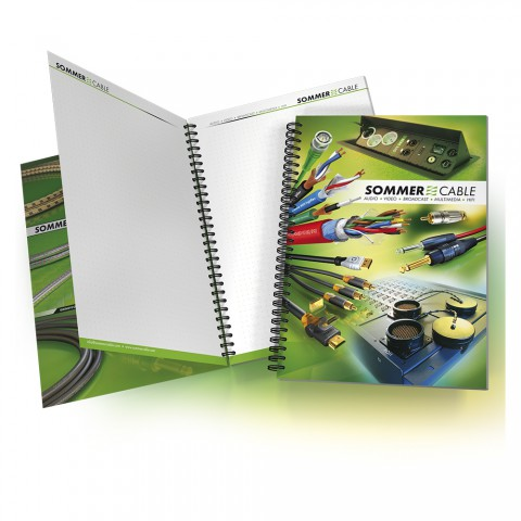 Sommer cable notepad, width: 180 mm, height: 255 mm, green