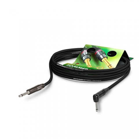 Instrument cable SC-Spirit, 1 x 0,50 mm² | jack / jack 90°, NEUTRIK