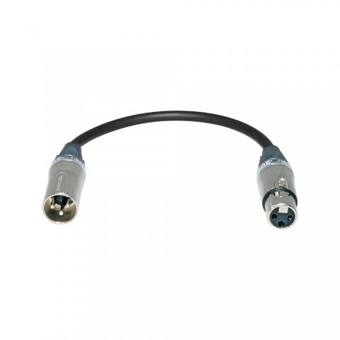 Sommer cable  Adapter cable | XLR 3-pole male/XLR 3-pole female straight, silver-grey