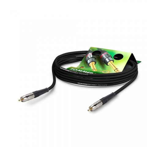 S/PDIF 75 Ω SC-Focusline MS Highflex, 1  x  0,22 mm² | Cinch / Cinch, HICON