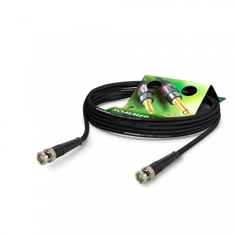 Video-patch cable hd-sdi (hdtv) SC-Vector 0.8/3.7, 1 x 0.50 mm² | BNC / BNC, DAMAR & HAGEN