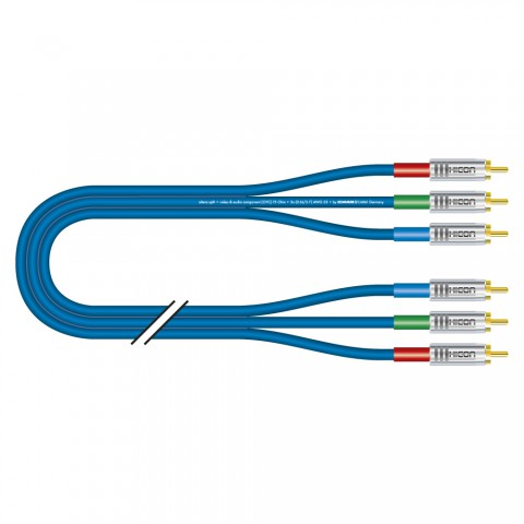 Yuv cable Transit Mini Flex, 3 x 0,34 mm² | RCA / RCA, HICON