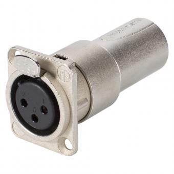 NEUTRIK  Adapter | XLR 3-pol male/XLR 3-pol female Type D, silbergrau