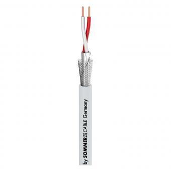 Patch- & Mikrofonkabel SC-Goblin; 2 x 0,14 mm²; PVC Ø 4,60 mm; eisgrau